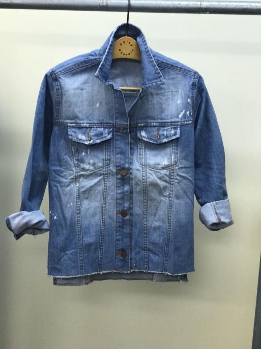 NYC AVEC 12 - Jaqueta Jeans - Azul