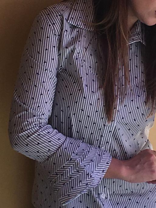 NYC CH 8 - Camisa com babados nos punhos - Passarinhos